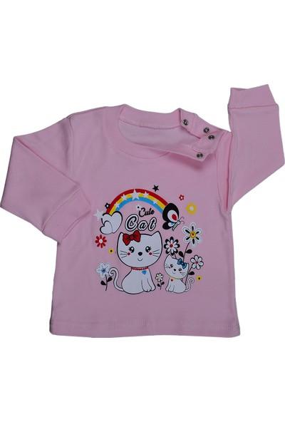 Bebeemm Badekids 6733 Kız Çocuk Aylık Pijama Takımı 3-12 Ay