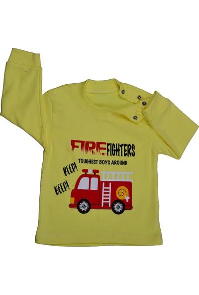 Bebeemm Badekids 6732 Erkek Çocuk Aylık Pijama Takımı 3-12 Ay