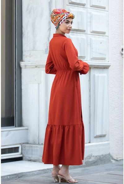 Piennar Vera Kiremit Tesettür Elbise