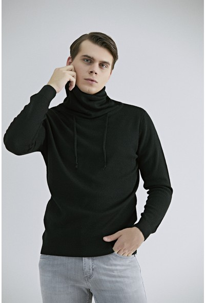 Twn Slim Fit Siyah Kazak