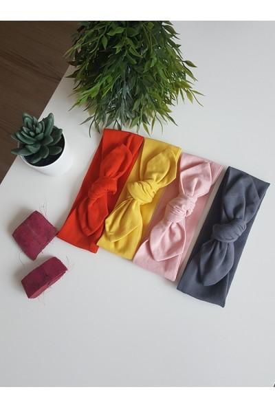 Swanbutik Kız Çocuk Bebek Renkli Bandana Toka Seti