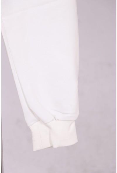 Aclassics Beyaz Cepli Elastik Belli Pamuklu Eşofman Altı