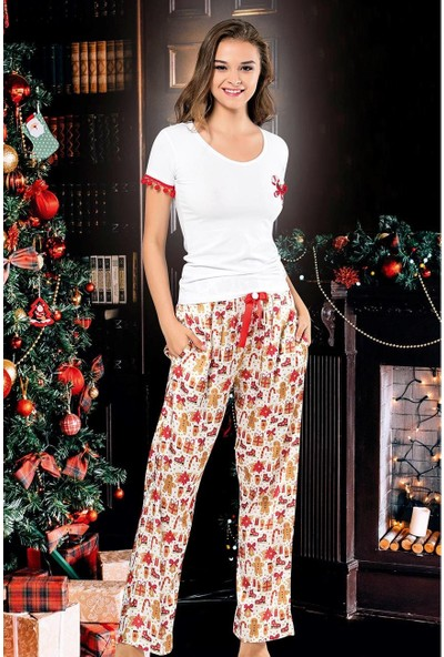 Vip Madame Kadın Noel Yıl Başı Pijama Takım