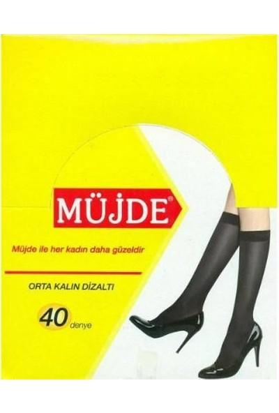 Müjde 12'Li Orta Kalın 40 Denye Pantolon Çorap(Sarıkutu)