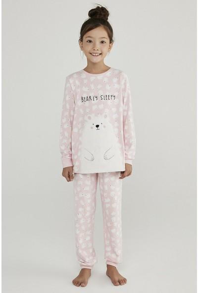 Penti Orchıd Kız Çocuk Polar Bear Termal 2li Pijama Takımı