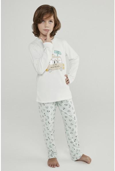 Penti Çok Renkli Erkek Çocuk Adventure Termal 2li Pijama Takımı