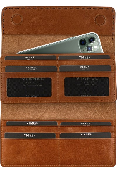 Vianel New York Vianel Ny Uzun Kadın Cüzdan El Çantası Telefon Bölmeli