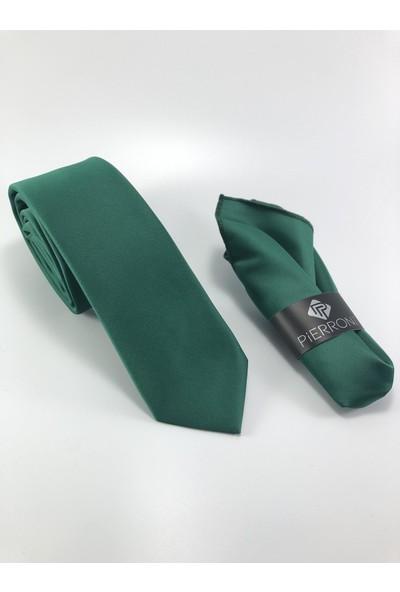 Pierroni Düz Renk Mendilli Kravat