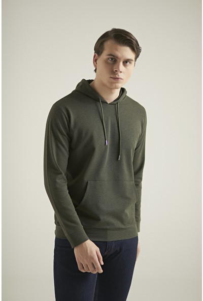 D's Damat Regular Fit Haki Sweatshirt
