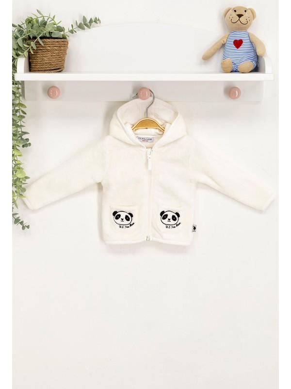U.s. Polo Assn Lisanslı Krem Bebek Sweatshirt