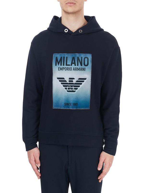Emporio Armani Baskılı Kapüşonlu Pamuklu Erkek Sweatshirt 6H1Mm1 1Jphz 0920