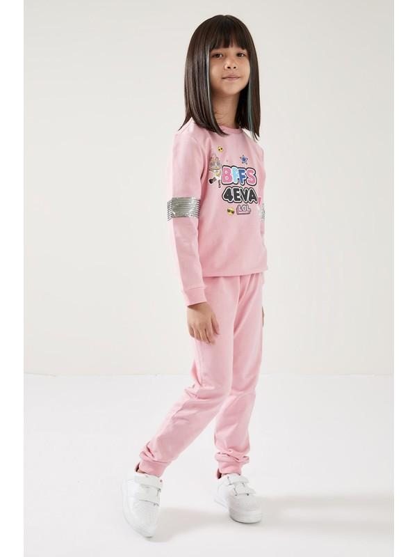 DeFacto Kız Çocuk L.O.L Lisanslı Sweatshirt ve Jogger Eşofman Takım S7581A620AU