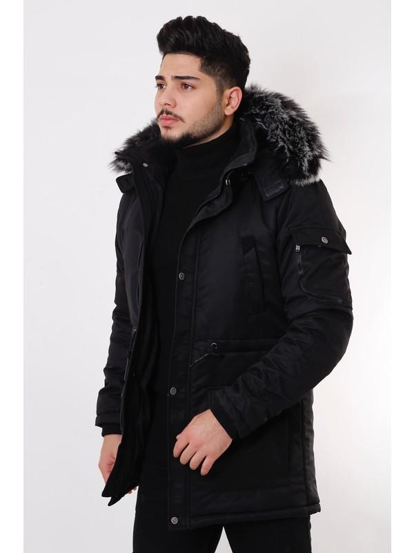 Stil Kombin King İçi Kürklü Kapşonlu Mont & Kaban