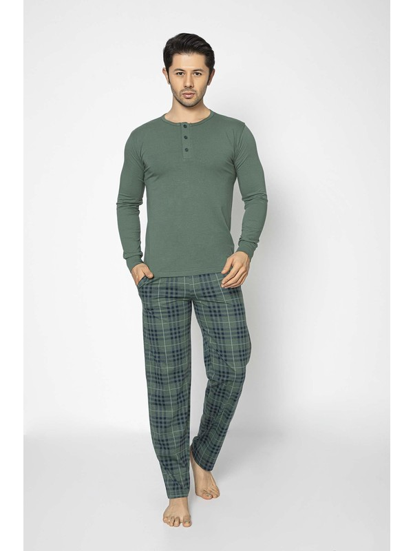 Aydoğan Erkek Modal Uzun Kollu Pijama Takımı