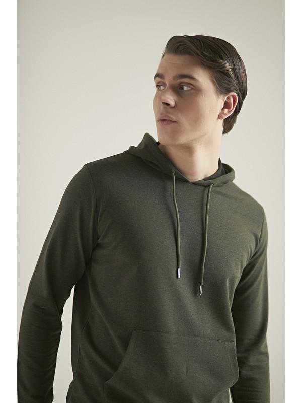 D's Damat Regular Fit Haki Sweatshirt
