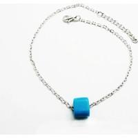 Bijustore Gümüş Kaplama Zincir Trend Aksesuarlı Hal Hal Bst0802