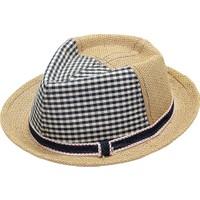 Bay Şapkacı Erkek Çocuk Ekose Hazır Fötr
