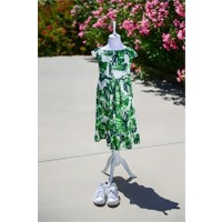 Familylook Tropical Leaf Girl Dress