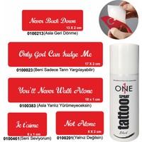 One Spray Tattoo 7700715 Siyah Spray Set 7