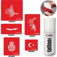One Spray Tattoo 7700815 Siyah Spray Set 8