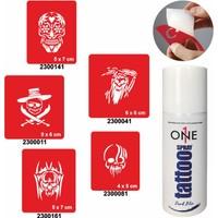 One Spray Tattoo 7702525 Darkblue Geçici Dövme Seti