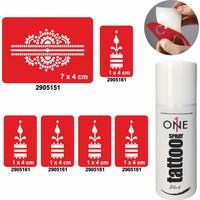 One Spray Tattoo 7705015 Siyah Spray Set 50