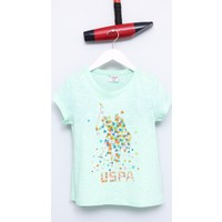 U.S. Polo Assn. Kız Çocuk Vangel T-Shirt Yeşil