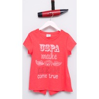 U.S. Polo Assn. Kız Çocuk Varlet T-Shirt Pembe