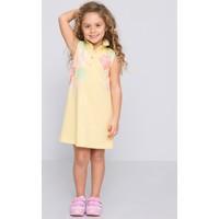 U.S. Polo Assn. Kız Çocuk Vervin Elbise Sarı