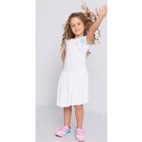 U.S. Polo Assn. Kız Çocuk Voven Elbise Beyaz