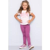 U.S. Polo Assn. Kız Çocuk Vean T-Shirt Pembe