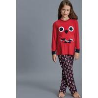 Dagi Kız Çocuk Pijama Takımı Kırmızı K0216K0100