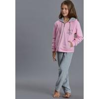 Dagi Kız Çocuk Polar Pijama Takımı Pembe K0216K0170