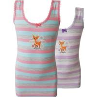 Özkan 2'Li Paket Kız Çocuk Atlet 40979-1 Karışık