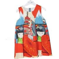 Monna Rosa Baskılı Elbise 2 - 6 Yaş