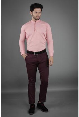 Brango 50125-4 Dar Kalıp Bordo Pantolon