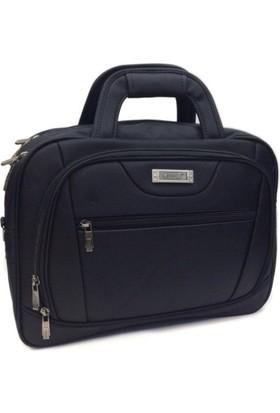 Moda Kumaş Evrak Çantası Laptop Bölmeli Ebat 40 Cm 30 Cm. Siyah Renk