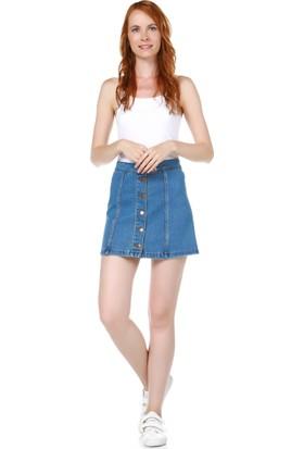 Dewberry Z6335 Kadın Jeans Etek