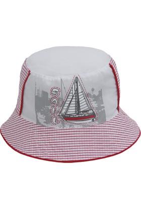 Bay Şapkacı Erkek Çocuk Yelken Baskılı Bermuda Şapka