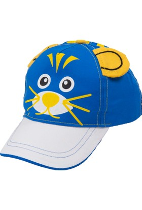 Bay Şapkacı Erkek Çoçuk Kedi Nakışlı Kep Şapka