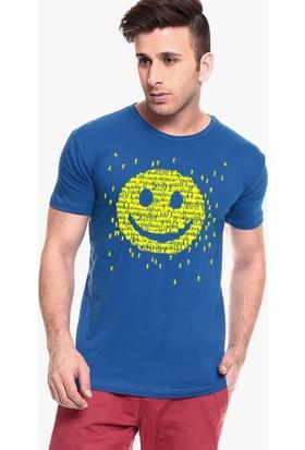 Tshirthane Smile İnsanlar Siyah Tshırt T-Shirt