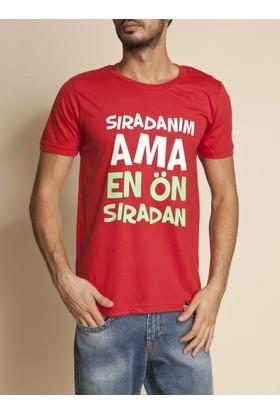 Tshirthane Sıradanım Kırmızı T-Shirt