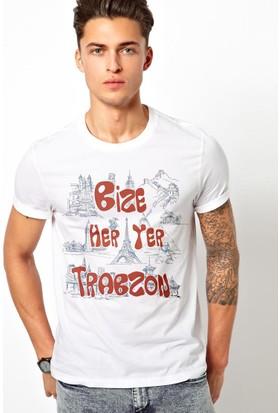Tshirthane Trabzon Beyaz T-Shirt