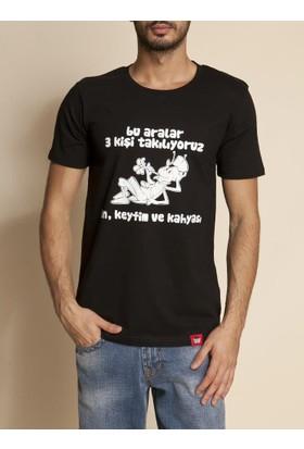 Tshirthane Bu Aralar 3 Kişi Mor Espirili T-Shirt