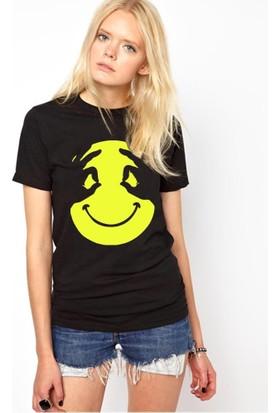Tshirthane Smile El Siyah Tshırt T-Shirt