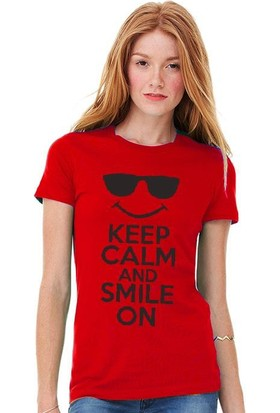 Tshirthane Keep Calm Smile Sarı Tshırt T-Shirt
