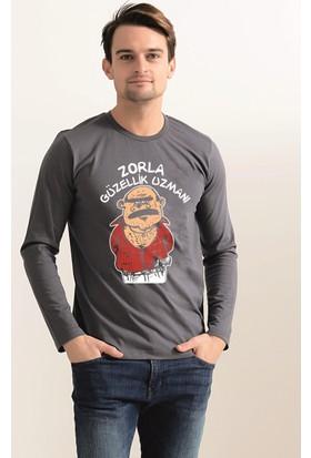 Tshirthane Zorla Güzellik Uzmanı Uzun Kollu Espirili T-Shirt