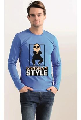 Tshirthane Gangnam Style Uzun Kollu T-Shirt