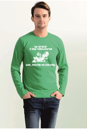 Tshirthane Bu Aralar 3 Kişi Takılıyor Espirili Sweat-Shirt