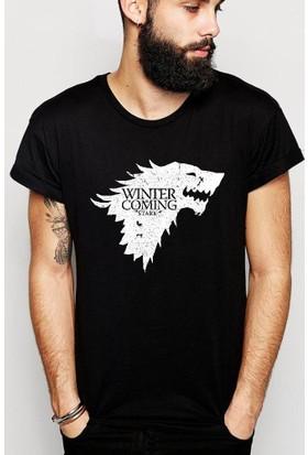 Tshirthane Game Of Thrones Stark Siyah T-Shirt